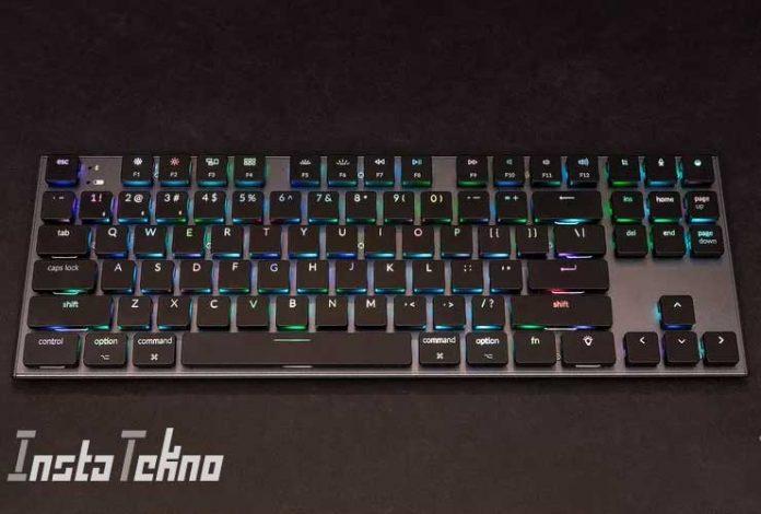 Keyboard mekanik nirkabel ramping ini untuk Mac