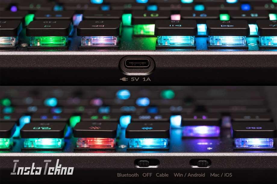 Keyboard mekanik nirkabel ramping untuk Mac