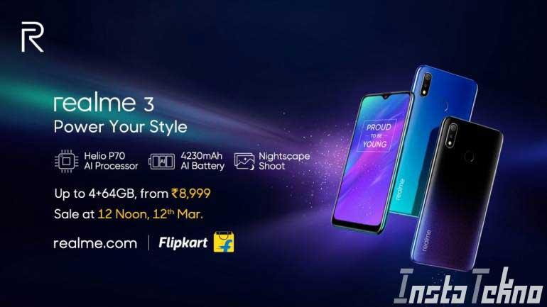 Realme 3 Diluncurkan : Harga, Spesifikasi, dan Fitur Realme 3